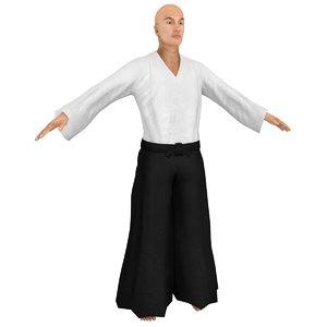 3D aikido martial artist 2