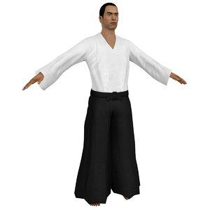aikido martial artist 4 3D