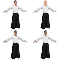 3D pack aikido martial artist