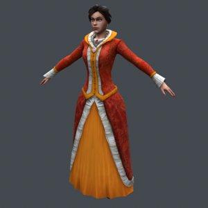 3D medieval girl
