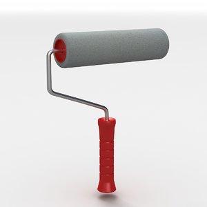 3D roller brush model