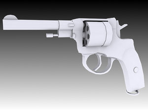 nagant m1895 revolver 3D