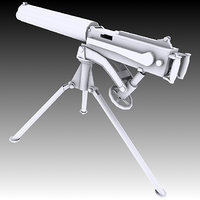 3D vickers machine gun