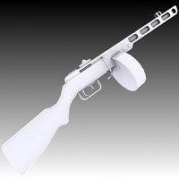 3D model ppsh-41