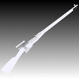 sniper m91 30 mosin 3D model