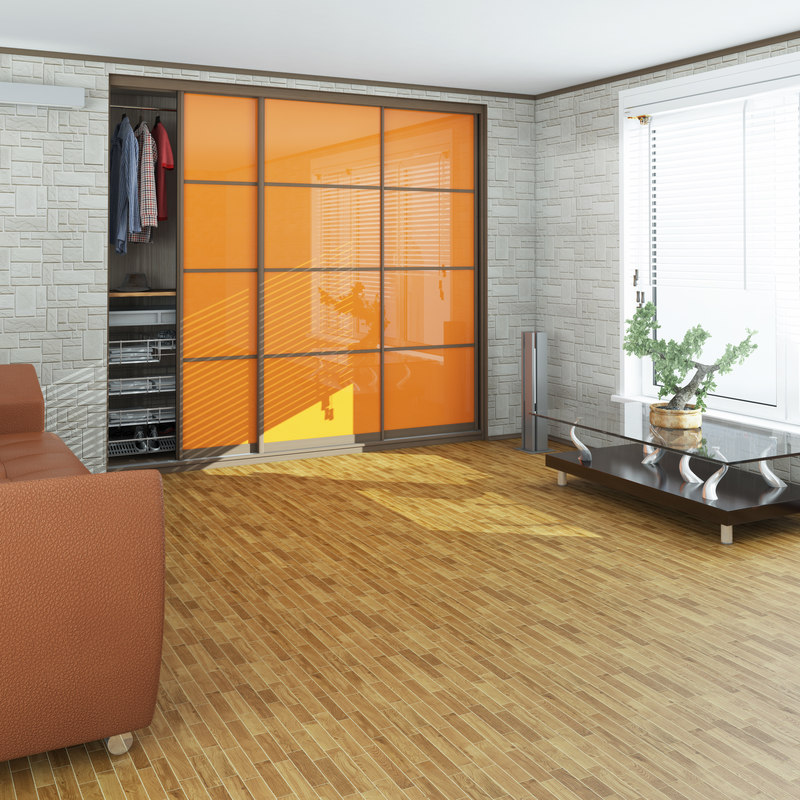 3D wardrobe window blinds model