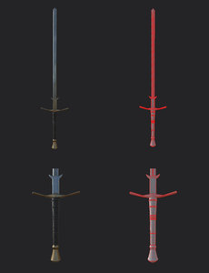 medieval longsword 3D model