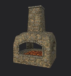 blacksmith forge 3D model