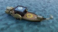 ottoman boat steampunk model