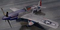 3D plane north american p-51d mustang