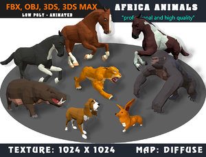 animals cartoon - 3D
