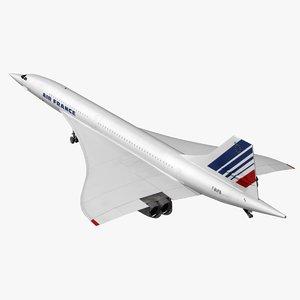 concorde air france 3D model