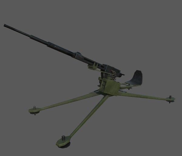 3D aa gun model