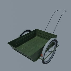 3D bicycle trolley model