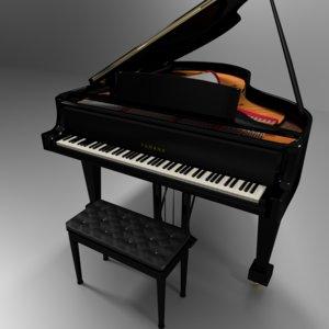 grand piano seat 3D model