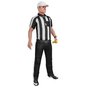 3D rigged football referee 1 model