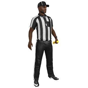 3D rigged football referee