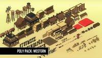 pack: western polys 3D model