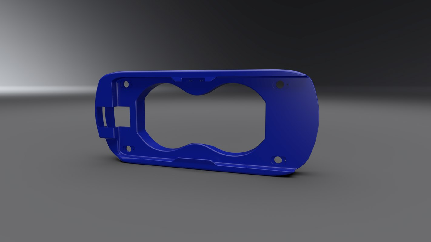 samsung gear vr shell 3D model