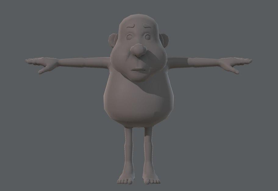 base character man 3D
