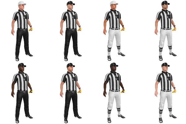 3D mega pack rigged football model