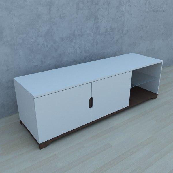 modern tv stand 3D