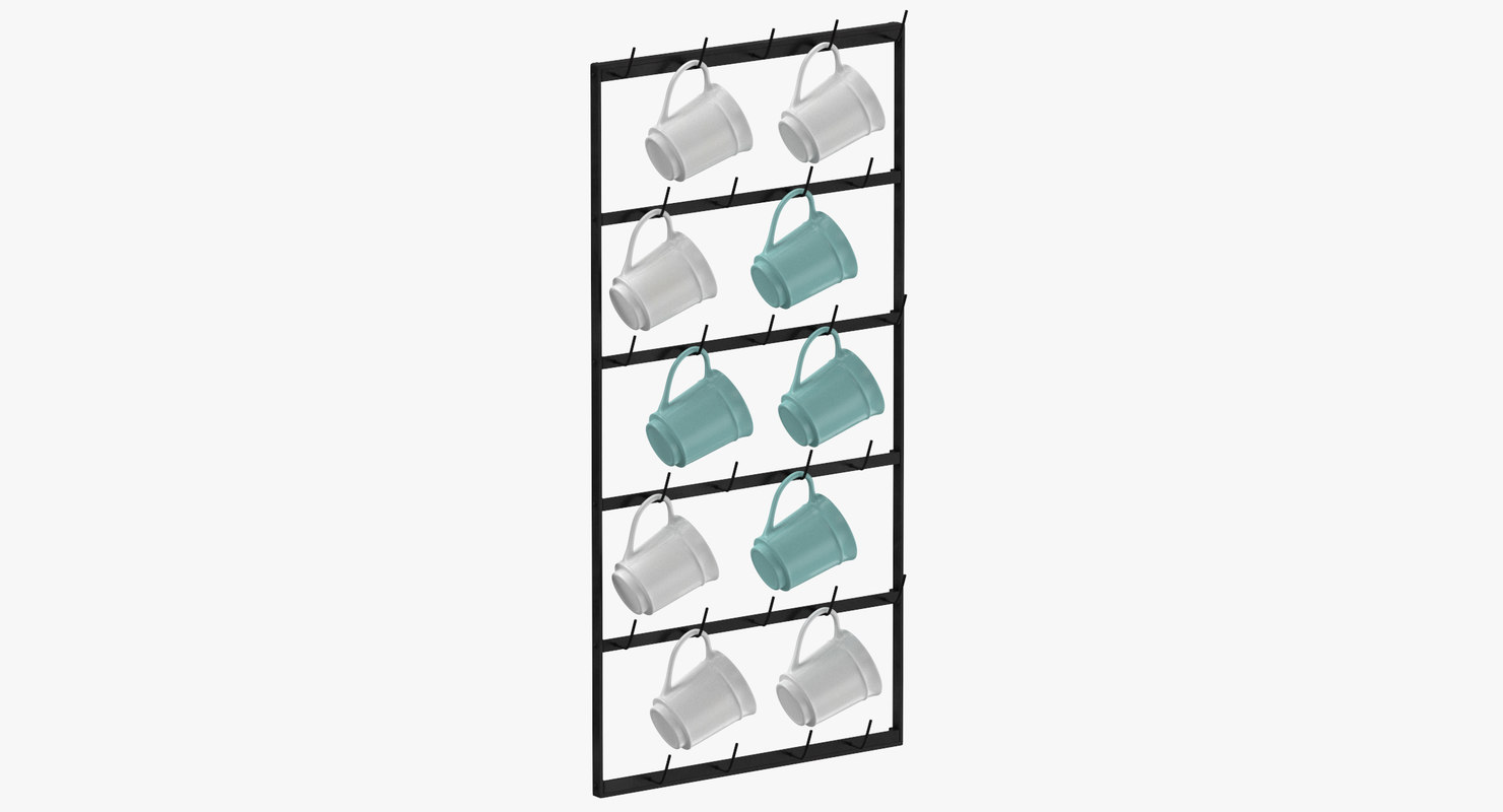 3D kitchen mug rack model