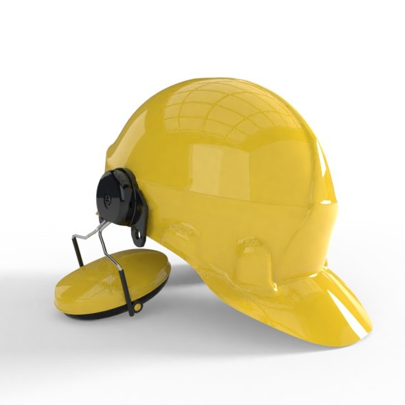 3D worker helmet
