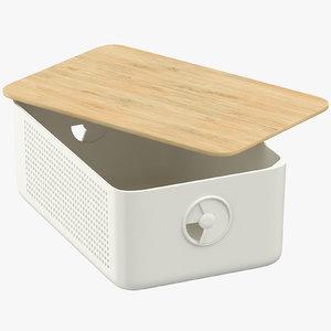 3D breadbox opened