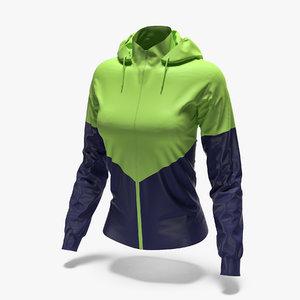 female sport jacket 3D model