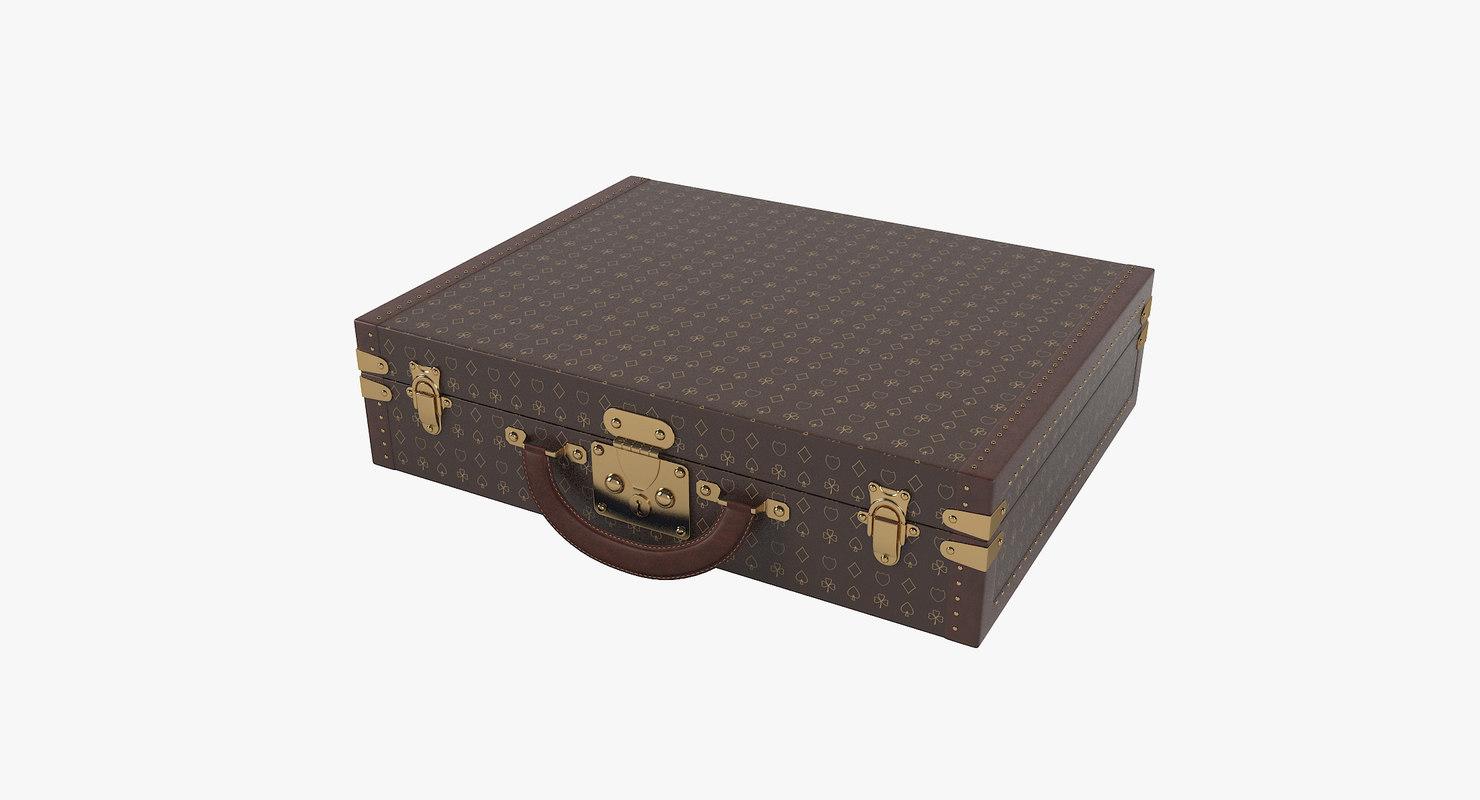 luxury briefcase 3D model