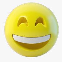 emoji happy 3D