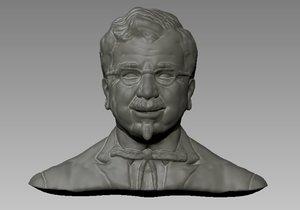 3D harland david model