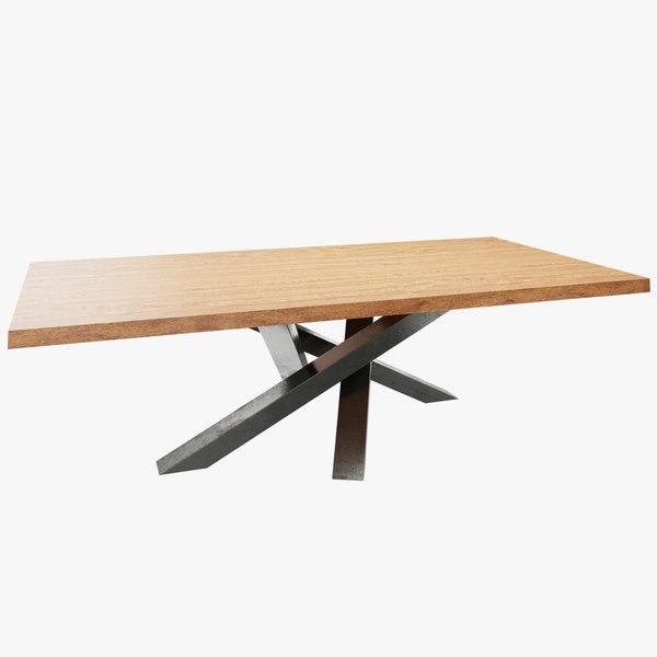 3D model table - living room