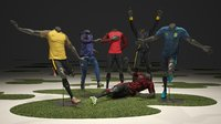 Male mannequin Nike Football pack 3D model