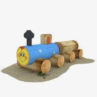 wood locomotive model