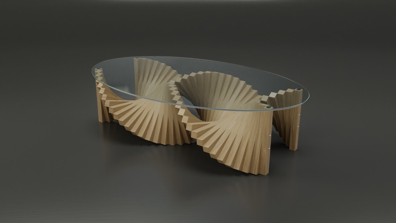 3D set 8 coffee tables
