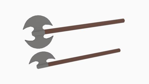 axe double 3D model