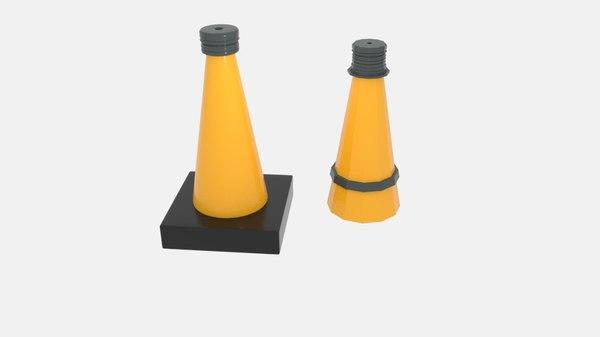 3D model cone buoy
