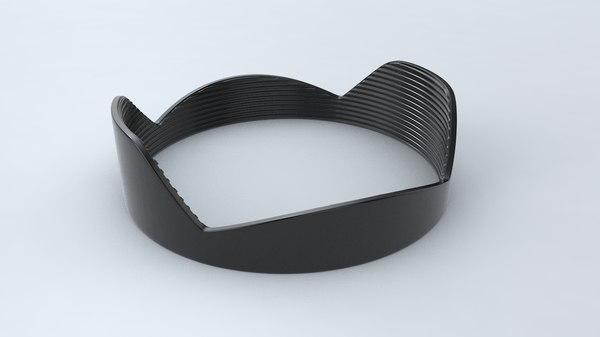 lens hood 3D model