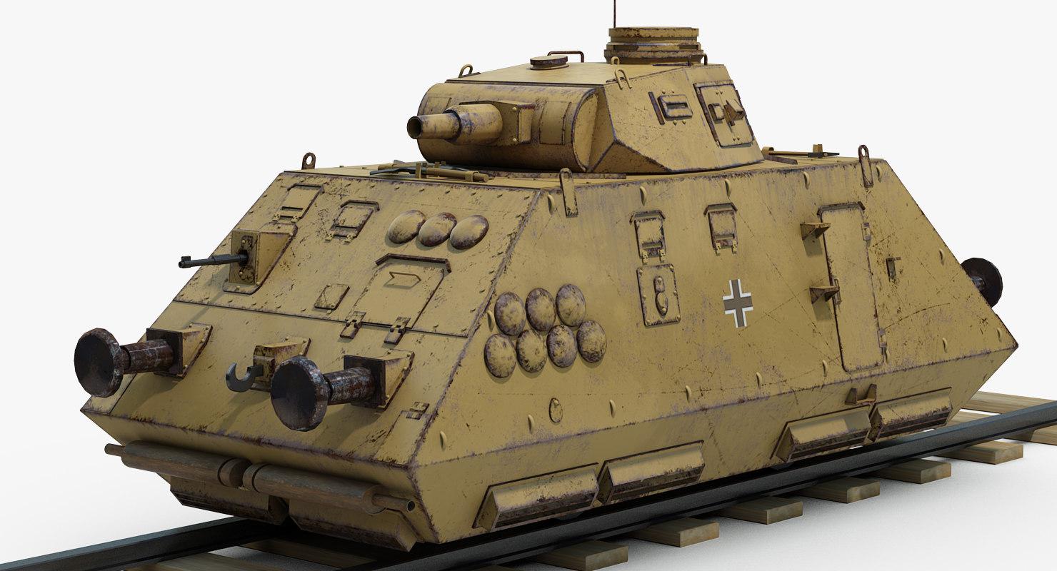 ww2 german artillery 3D