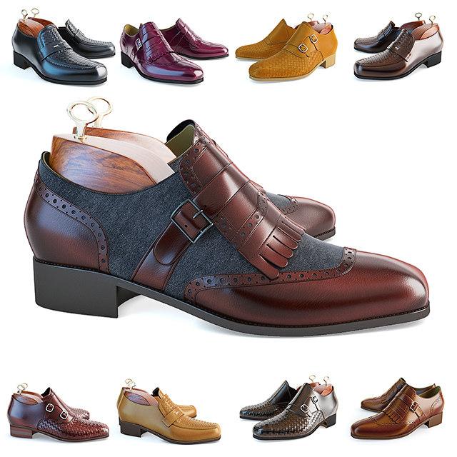 3 men s shoes 3D model