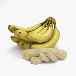 3D banana bunch