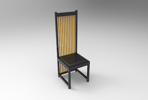 robie house chair wright 3D model
