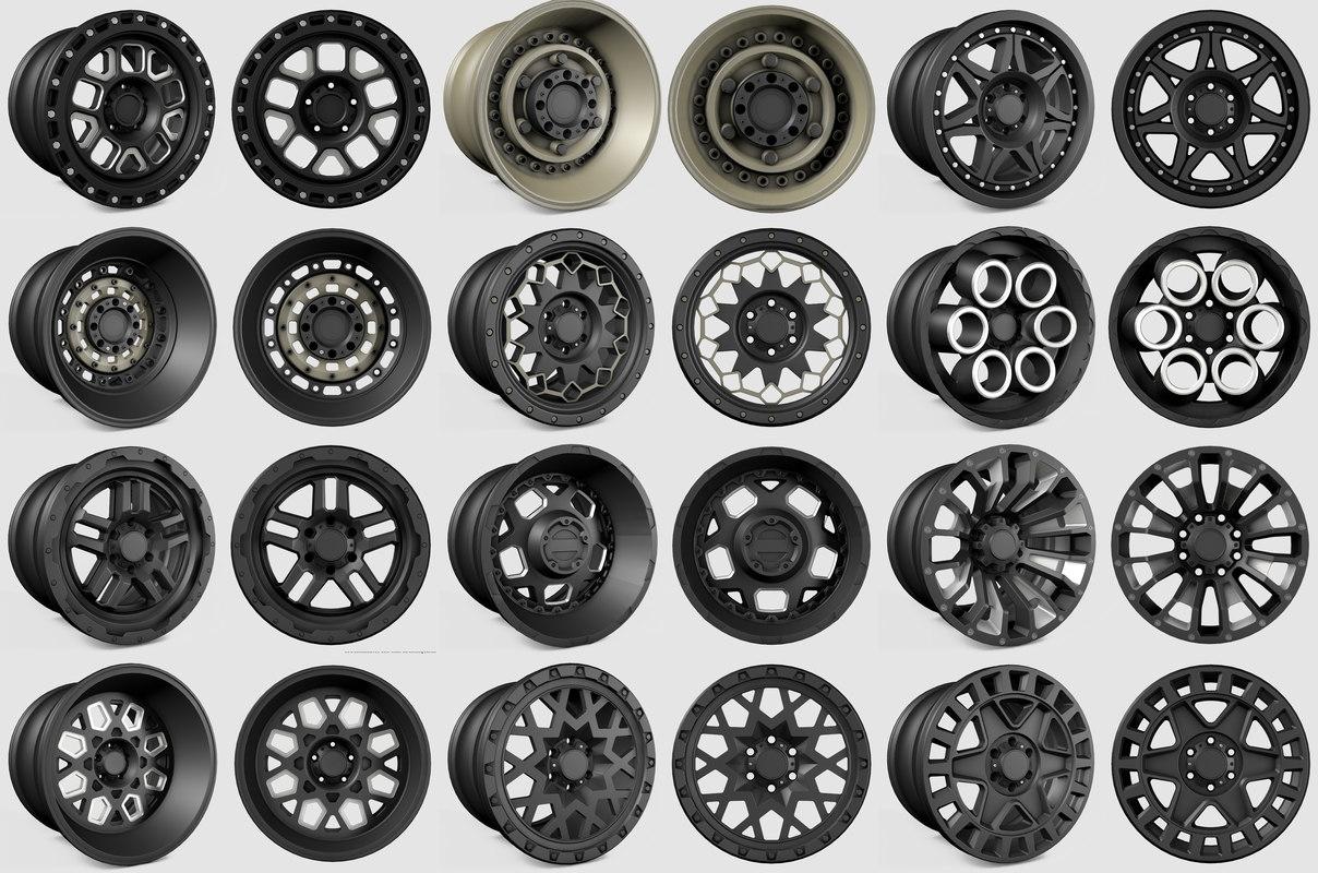 3D model black rhino wheels rim