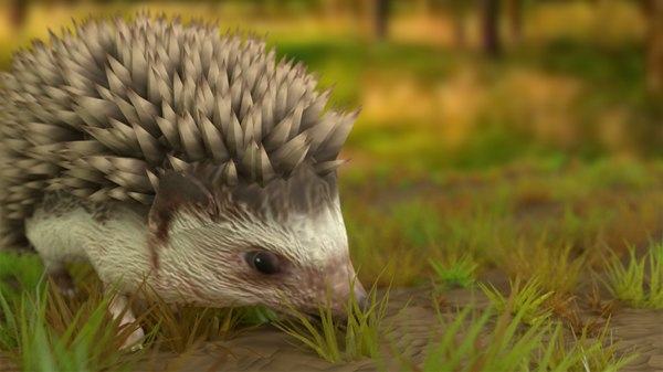 hedgehog games 3D model
