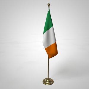 3D irish flag pole model