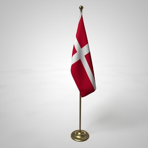 denmark flag pole model