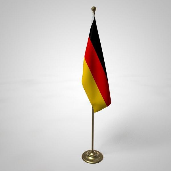 3D german flag pole