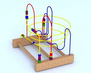 3D model childs roller coaster